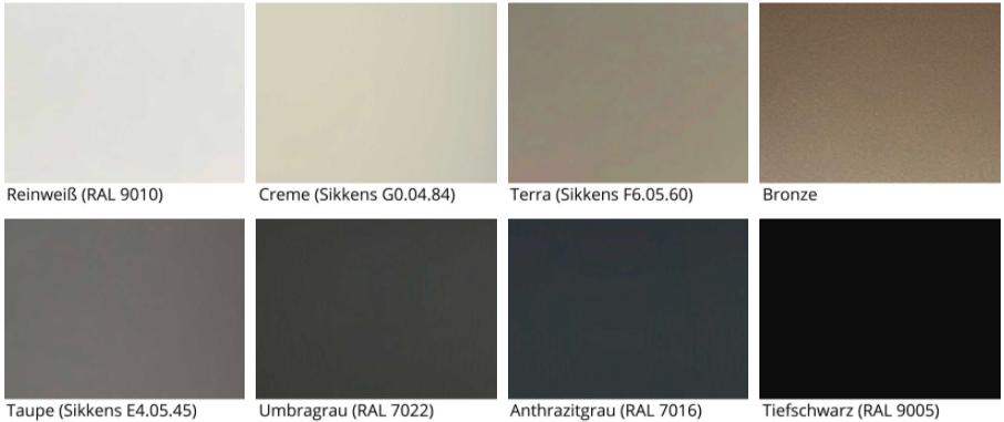 Standardfarben für Korpus